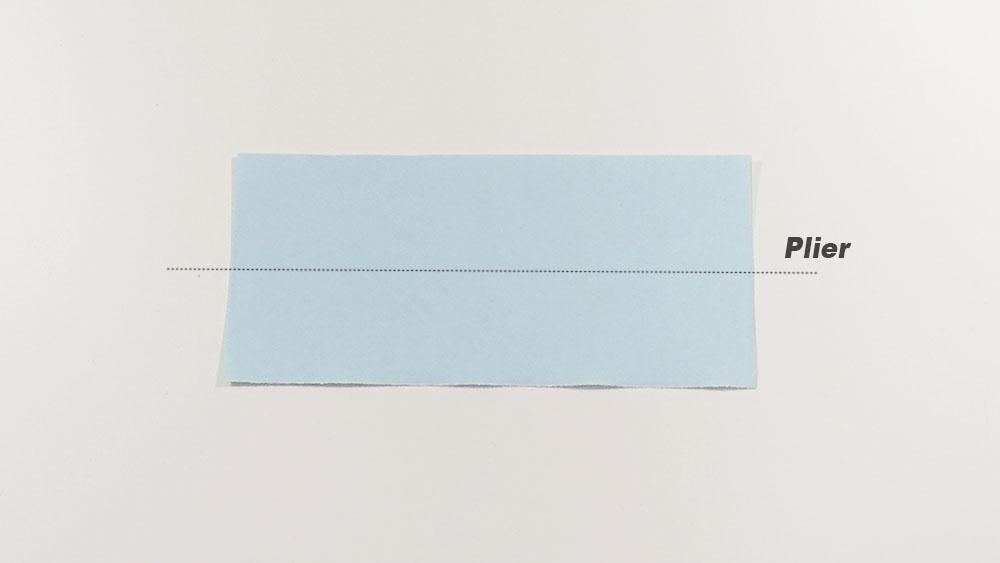 Fabriquer un marque-page origami - seconde étape