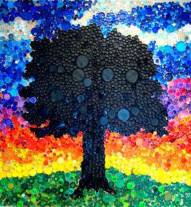 DIY déco récup: fresque représentant un chêne
