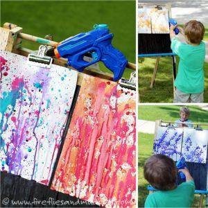 Jeux de peinture au pistolet à eau
