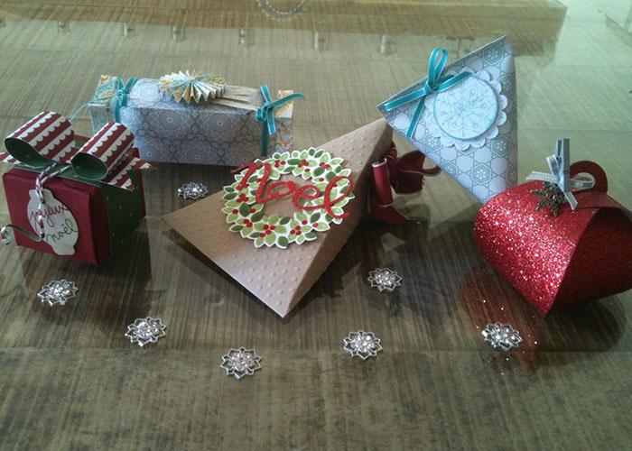 Créations scrapbooking de Muriel Segarra: paquets cadeaux
