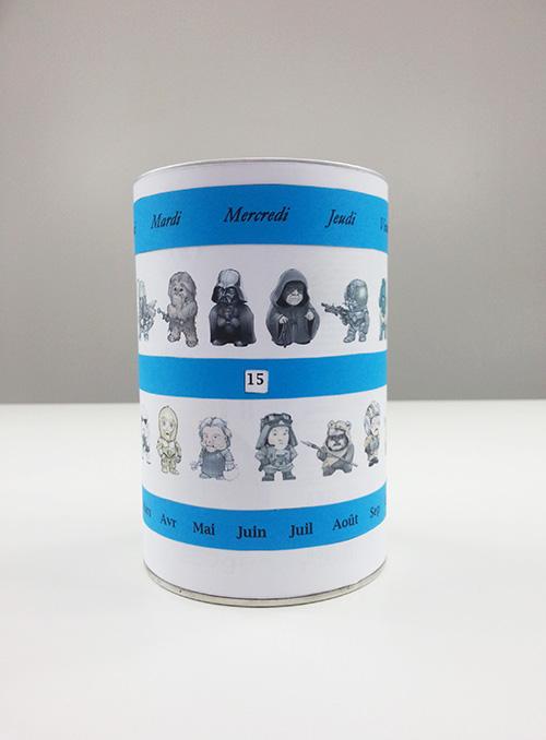 Fabriquer un pot à crayons avec calendrier perpétuel Star Wars pour la fête des pères