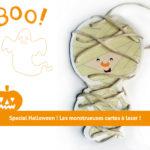Les monstrueuses cartes à lacer d'Halloween