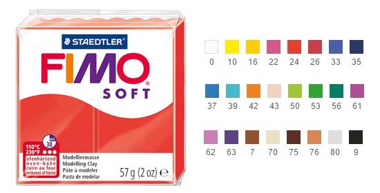 Pâte polymère fimo soft
